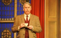 Tony Boncza (Major Metcalf) in the 60th Anniversary Tour of Agatha Christie's The Mousetrap. Credit Liza Maria Dawson