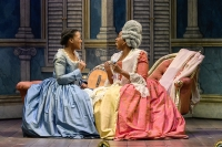 ETO The Marriage of Figaro S18 - L-R Abigail Kelly, Susannah Nadine Benjamin, Countess CREDIT Jane Hobson