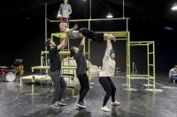 Cast of ZOG in rehearsal. Photo Credit: Robin Savage