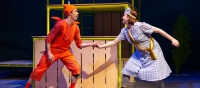 Billy Mahoney as Zog and Lois Glenister as Princess Pearl. Photo Mark Senior