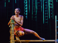 Keziah Joseph as Mowgli and company. Photo by Manuel Harlan