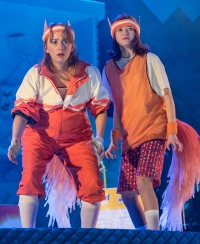 Lillie Flynn (Mrs Fox), Jade Croot (Kit). Photo credit Manuel Harlan