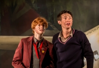 Freddie Wakins and Luke Ward-Wilkinson as Jack and Ralph. Photo Johan Persson