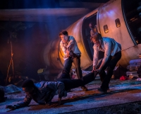 Keenan Munn-Francis Luke Ward-Wilkinson, Matthew Castle as Simon, Ralph, Roger. Photo Johan Persson