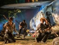 Yossi Goodlink, Michael Ajao, Freddie Watkins as Bill, Maurice, Jack. Photo Johan Persson
