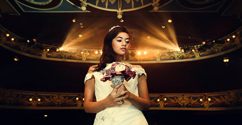 Take the stage with a wedding at Crewe Lyceum.