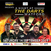 Sat 14 Sep - A Night At The Darts, Watford